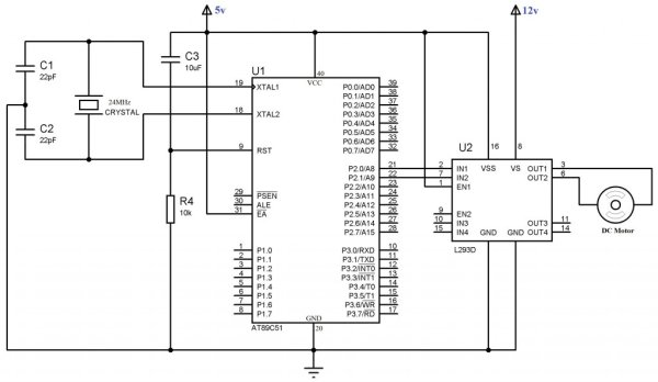 Interfacing 16×2 Lcd With 8051 Circuit Pin Diagrams