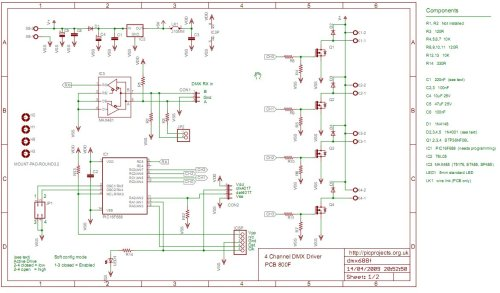 small resolution of  4 channel dmx512 driver for pic16f688 schematic