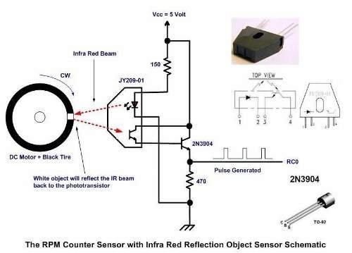 digital rpm meter wiring diagram sony cdx ca650x contactless tachometer using pic microcontroller schematic