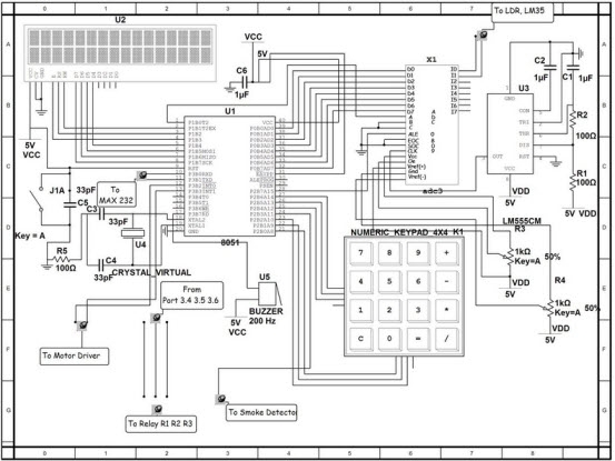 home security system microcontroller circuit