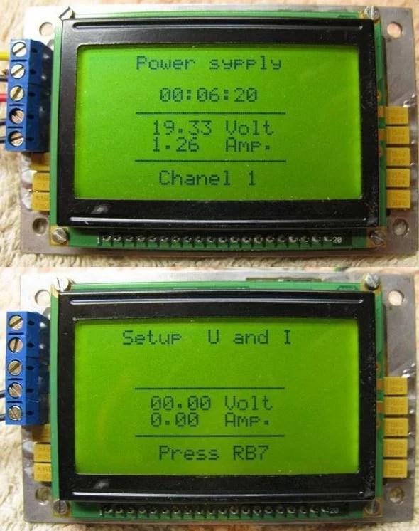 Digital Dc Watt Meter Circuit Project Using Pic Microcontroller