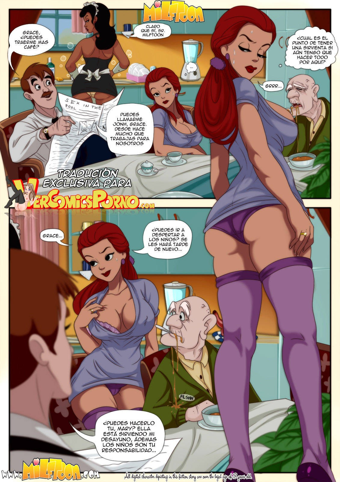 Milftoon  The Milftoons Traduccin Exclusiva Completo