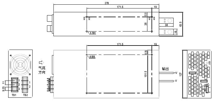 Power supply unit 1000W DC 12V 83A 409shop,walkie-talkie