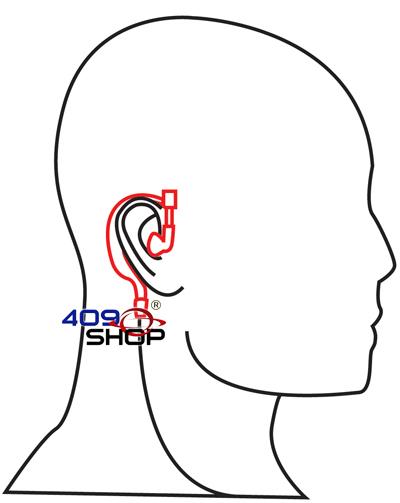 4-139M EMP-3672 Ear Loop Earpiece (GP88,GP300) for SV11D