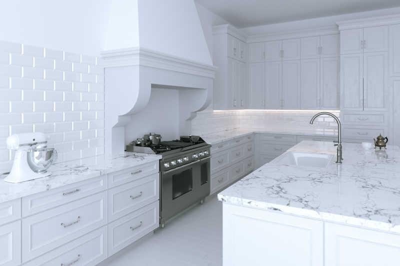 white kitchen cabinets accessories 豪华白色橱柜图片 闭合带烹饪岛的豪华白色厨柜素材 高清图片 摄影照片 寻 闭合带烹饪岛的豪华白色厨柜
