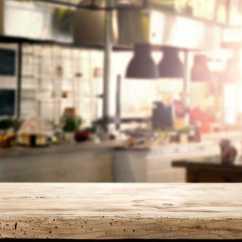Wooden Kitchen Table Glass Door Cabinet 餐厅内部厨房图片素材 餐厅内部厨房木制桌面创意图片素材 Jpg图片格式 餐厅内部厨房