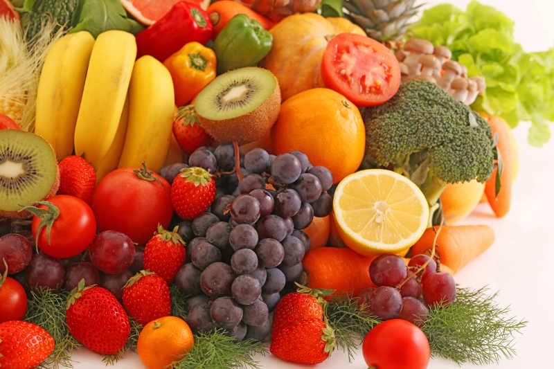 新鮮的蔬菜和水果圖片-堆積的蔬菜水果素材-高清圖片-攝影照片-尋圖免費打包下載