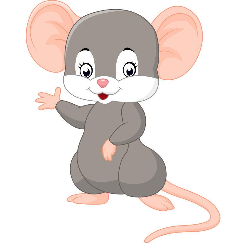 矢量卡通老鼠圖片_可愛的灰色老鼠矢量插圖素材_高清圖片_攝影照片_尋圖免費打包下載