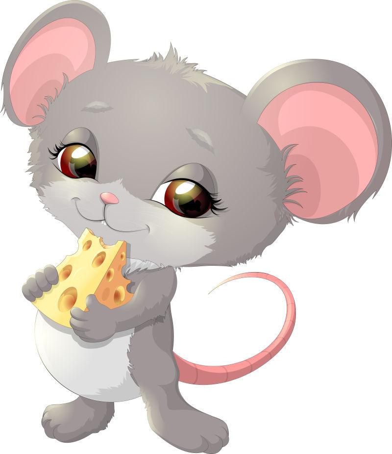 矢量卡通老鼠圖片-可愛的灰色老鼠矢量插圖素材-高清圖片-攝影照片-尋圖免費打包下載