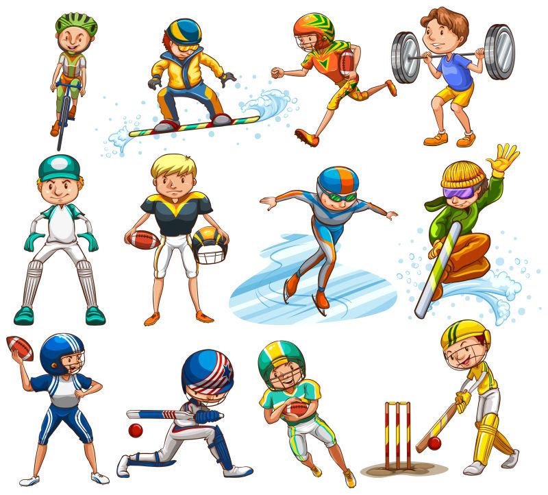 卡通體育運動插圖圖片-矢量的卡通運動插圖素材-高清圖片-攝影照片-尋圖免費打包下載