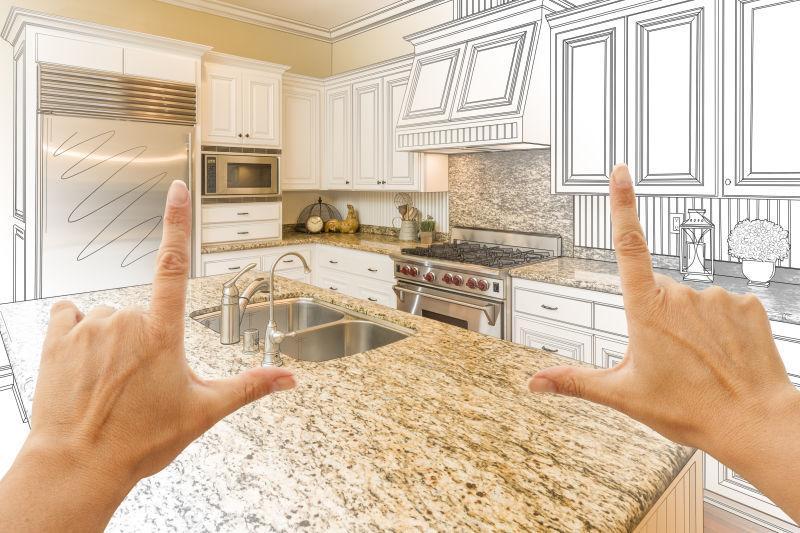 custom kitchens places to buy kitchen tables 定制厨房设计图片 女性手工框架定制厨房设计素材 高清图片 摄影照片 寻图 女性手工框架定制厨房设计