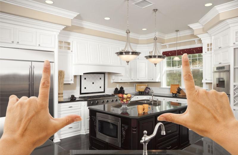 custom kitchens amazon kitchen table 女性的手构成的美丽的定制厨房设计图片素材 厨房室内设计创意cg素材 jpg 女性的手构成的美丽的定制厨房设计