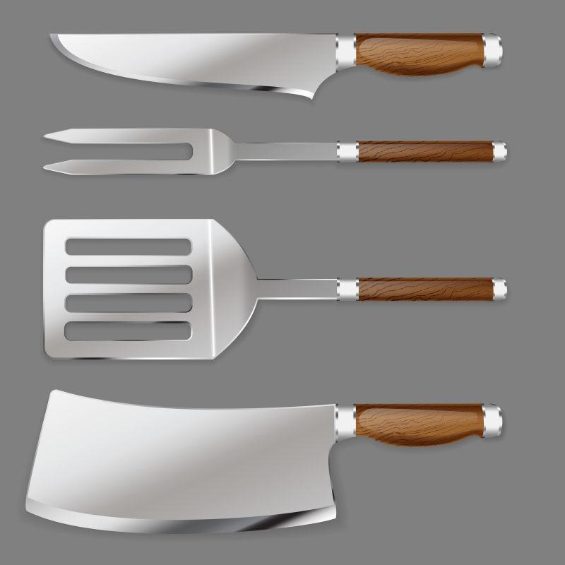 kitchen tool set light table 厨房用具图片素材 矢量厨房用具插画 eps格式 未来素材下载 矢量厨房用具
