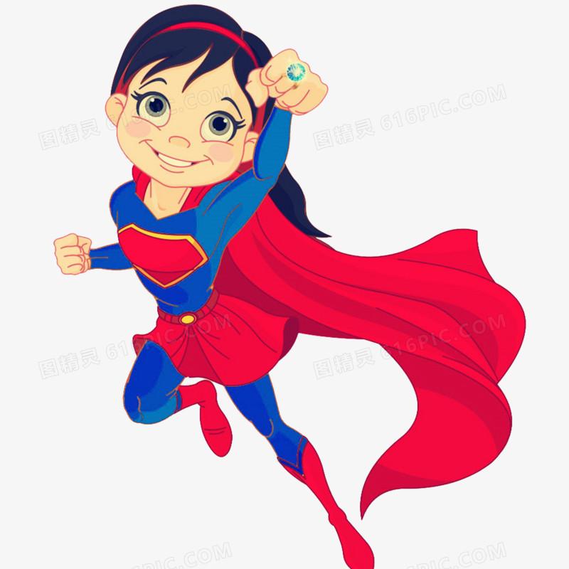 卡通女超人圖片免費下載_PNG素材_編號18mid8ny5_圖精靈