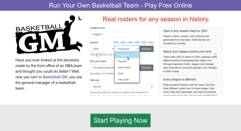 access basketball gm com