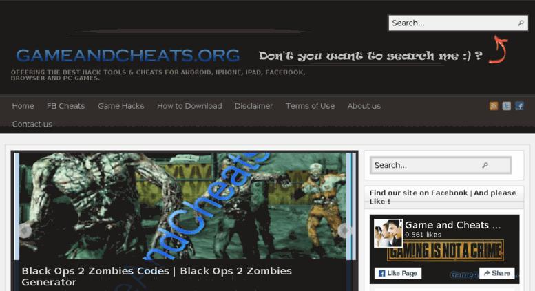 access gameandcheats org gameandcheats