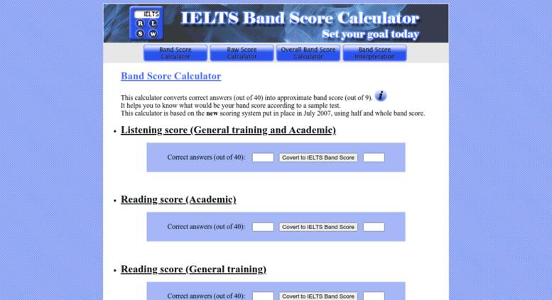 Ielts General Band Calculator