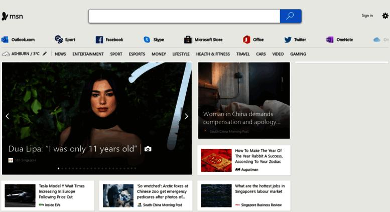 Access msn.com.sg. MSN Singapore - Outlook. Skype. Hotmail. Messenger