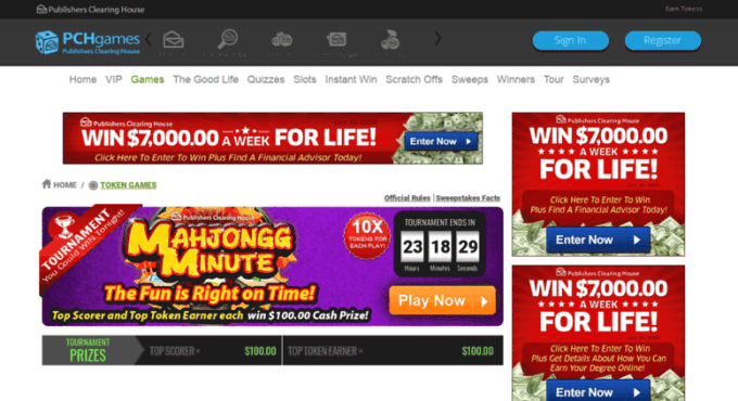 Publishers Clearing House Games Pch