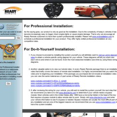 Ready Remote Vehicle Wiring Diagram 2005 Ford Expedition Fuse Panel Access Readyremote Com Autocommand Screenshot
