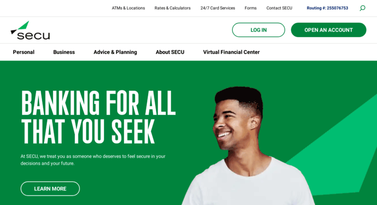 Secu Bank Website