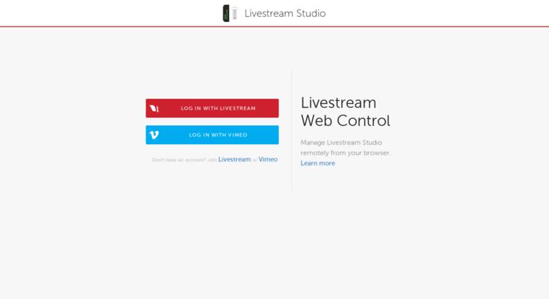 access studio webcontrol livestream