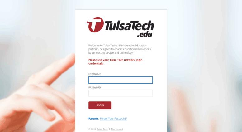 Access tulsatech.blackboard.com. Blackboard Learn