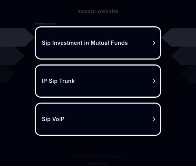 Xossip Website Screenshot