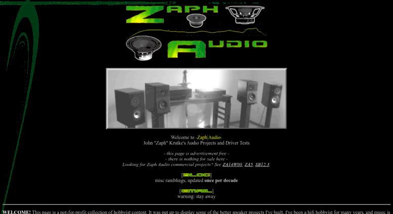 access zaphaudio com zaph