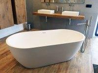 Freistehende Badewanne Montecristo aus Mineralguss - Wei ...