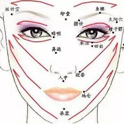 面部撥筋穴位圖 五大功效助你輕鬆擁有好氣色 - 色彩地帶