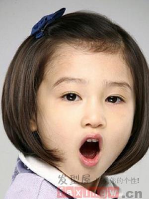 女童短髮時尚潮流髮型圖片欣賞 - 色彩地帶