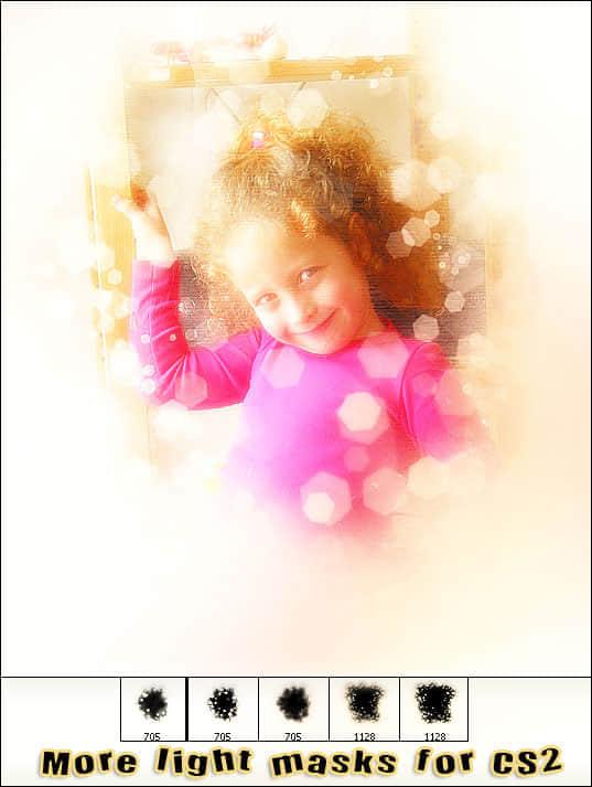 照片美化夢幻光影遮罩筆刷 : PS筆刷吧-筆刷免費下載