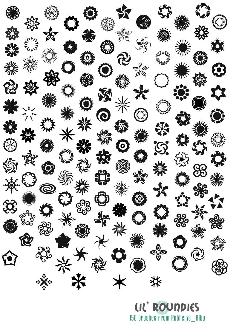 漂亮的符號花紋圖案Photoshop筆刷 : PS筆刷吧-筆刷免費下載