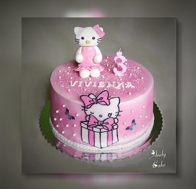 Hello Kitty Birthday Cake Cake By Andycake Cakesdecor