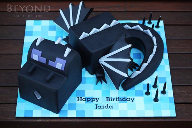 Minecraft Ender Dragon Cake By Beyondthefrosting Cakesdecor