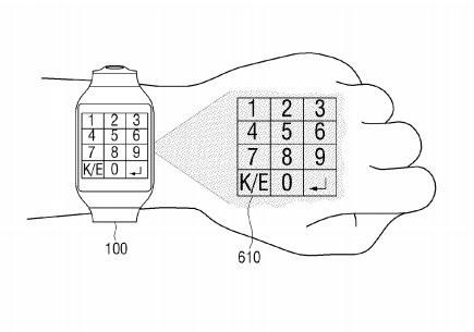 Brevet : une montre avec projecteur pour faire de la main
