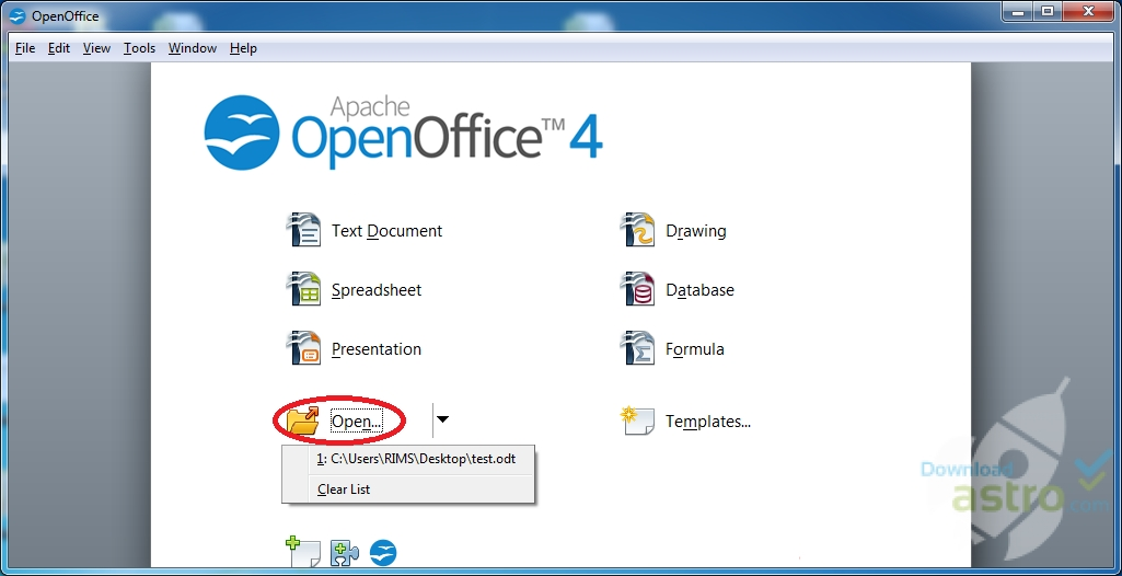 Open Office - latest version 2018 free download