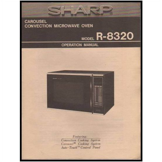 sharp carousel microwave r 8320 ops guide manual on ebid united states 85409580