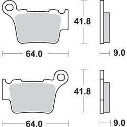 SBS Sinter Brake Pads 791SI KTM EXC SX 525 450 400 300 250
