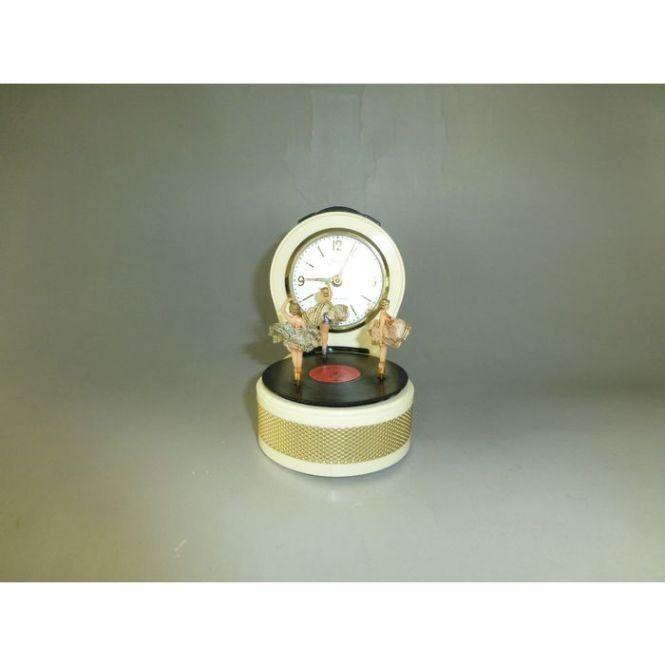 Vintage German Musical Alarm Clock With