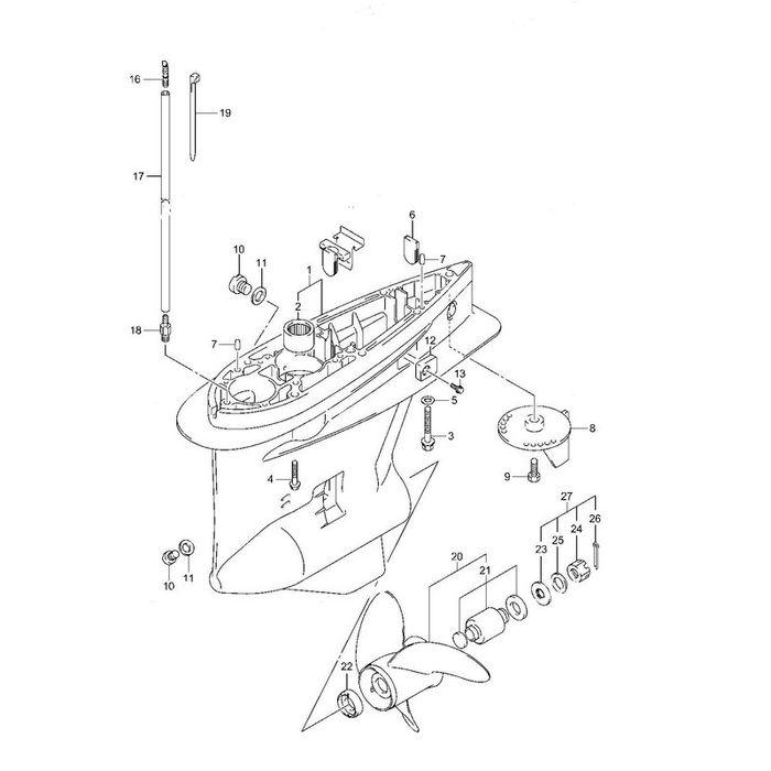SUZUKI Outboard 4 Stroke DF150, 175 Hp. Rebuilt Gear Case