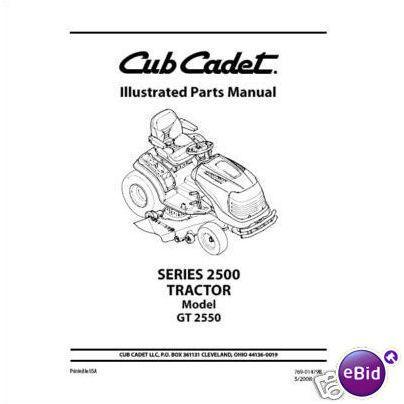 Cub Cadet Parts Manual Model No. GT 2550 on eBid United