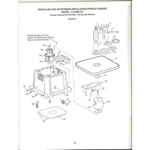 Owner's Manual Sears Craftsman Oscillating Spindle Sander
