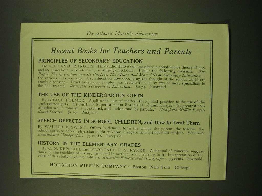 Houghton Mifflin Company Ad
