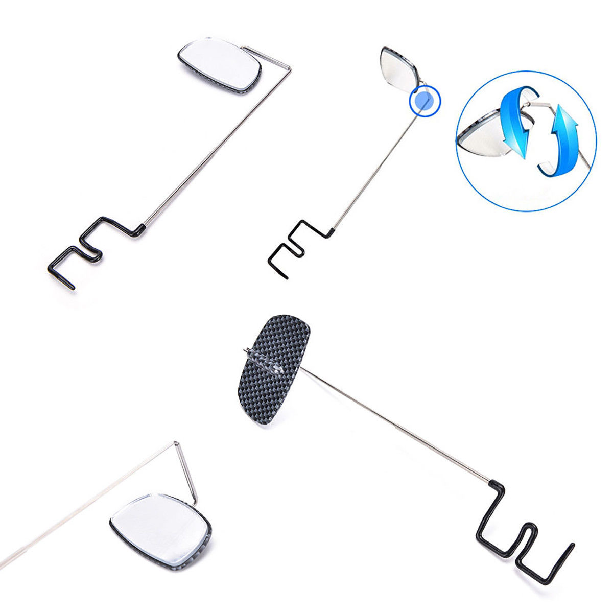 Bike Bicycle Cycling Mirror Helmet Mount Riding Rearview