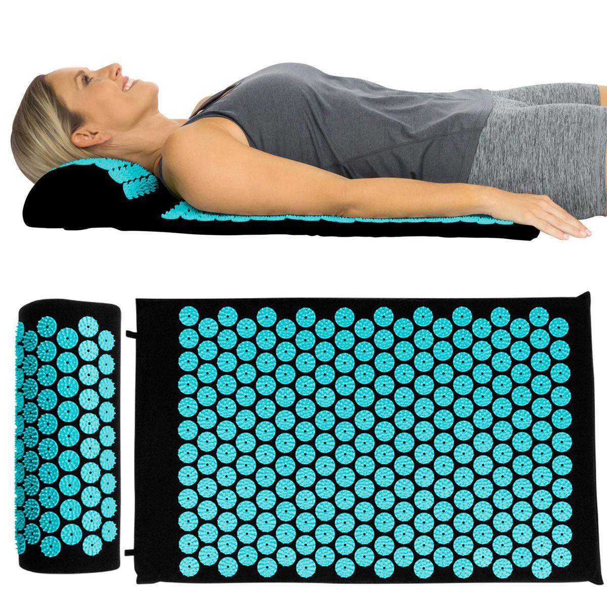 yoga acupressure massage mat pillow
