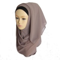 Muslim Women's Chiffon Long Scarf Hijab Islamic Wrap ...