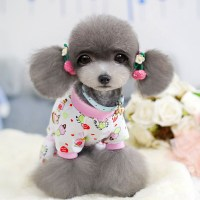 Cute Puppy Dog Cartoon Pajamas Pet Cotton Jumpsuit Shirt ...
