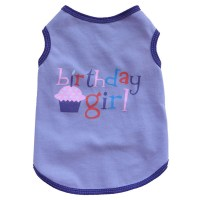 Pet Dogs Brithday Boy/Girl Print Vest Puppy Clothes ...